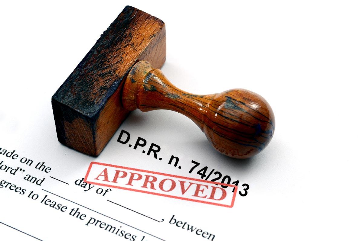 decreto presidenziale 74 del 2013