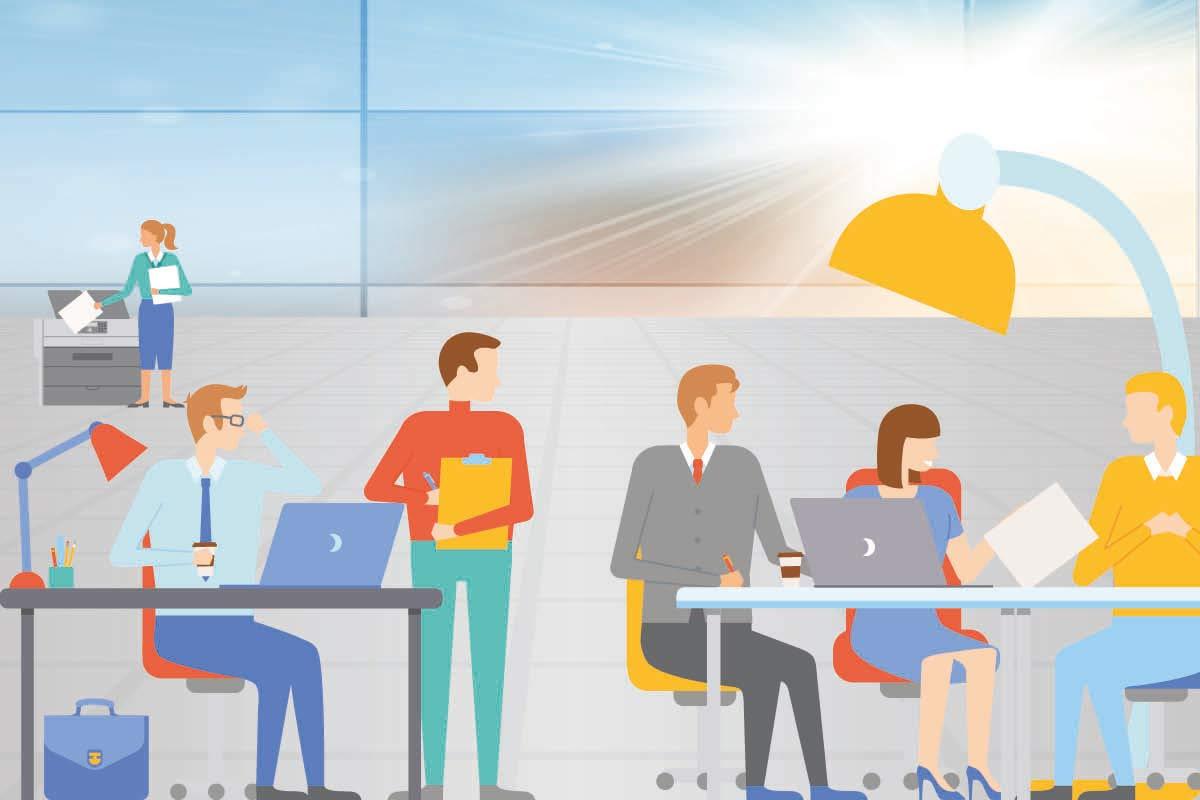 fonti di calore in un ufficio