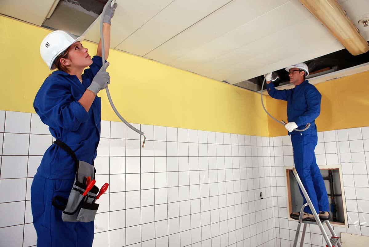 istallazione di un impianto con pannelli radianti a soffitto