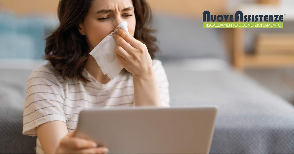 aria condizionata mal di gola